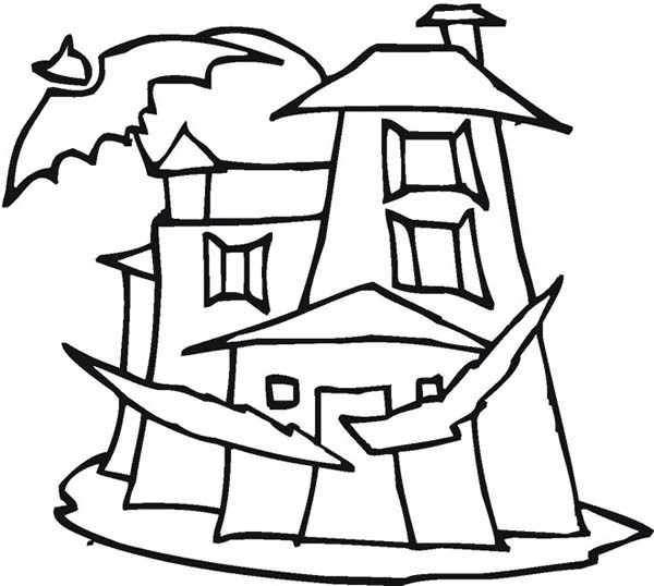 600x538 Haunted House Drawings Holidays And Observances