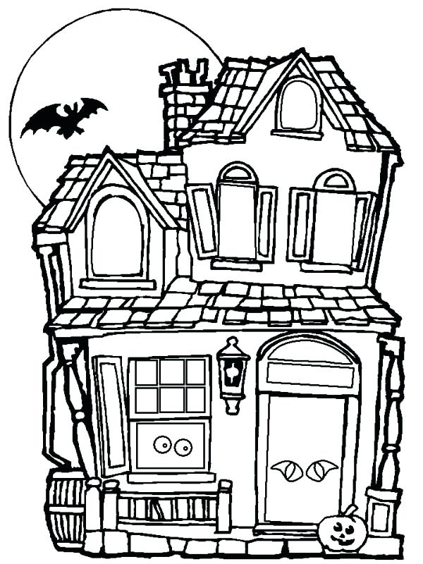 600x800 Haunted Mansion Coloring Pages Haunted House Coloring Pages Castle