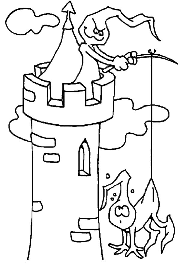 600x890 Phantoms In The Haunted Castle And House Coloring Pages