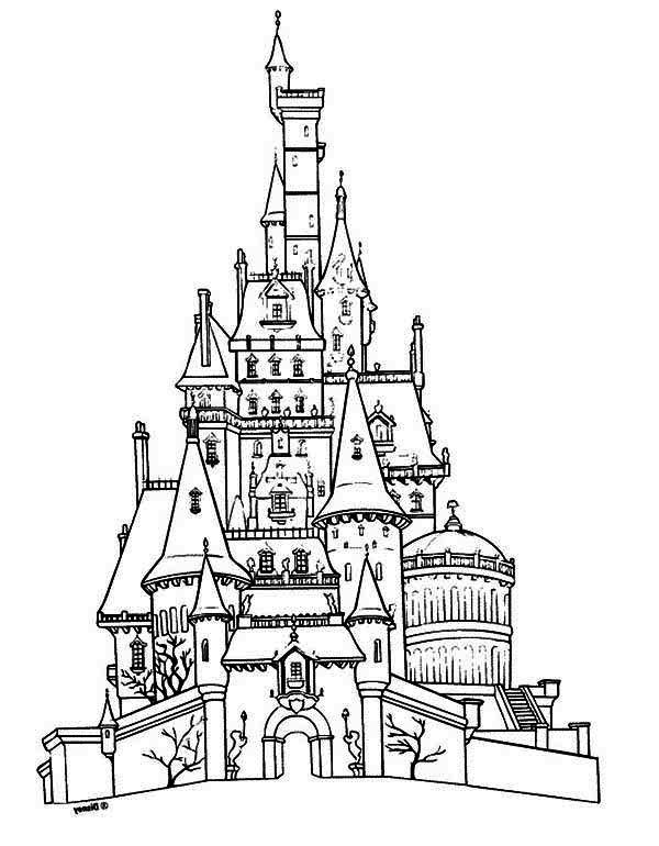 600x770 Spooky Castle Coloring Page Spooky Castle Cartoon