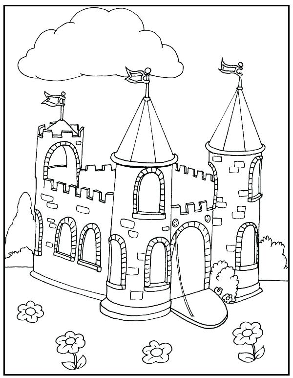 600x773 Castle Coloring Pages Day Haunted Castle On Day Coloring Page
