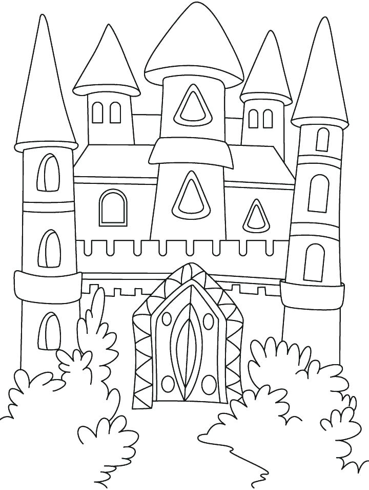 720x954 Top Rated Castle Coloring Page Images Day Haunted Castle On Day