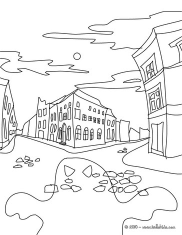 364x470 Alphabet Coloring Sheets Houses City Coloring Pagehaunted Castle