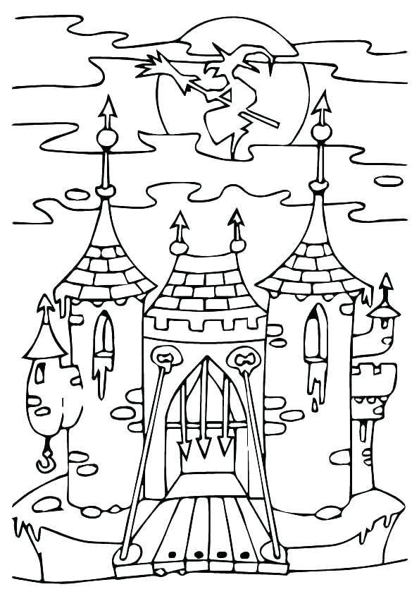 595x842 Haunted House Coloring Page Megaproperty.club