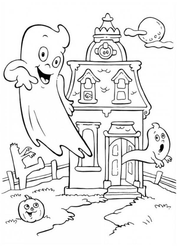 Haunted House Cartoon Drawing