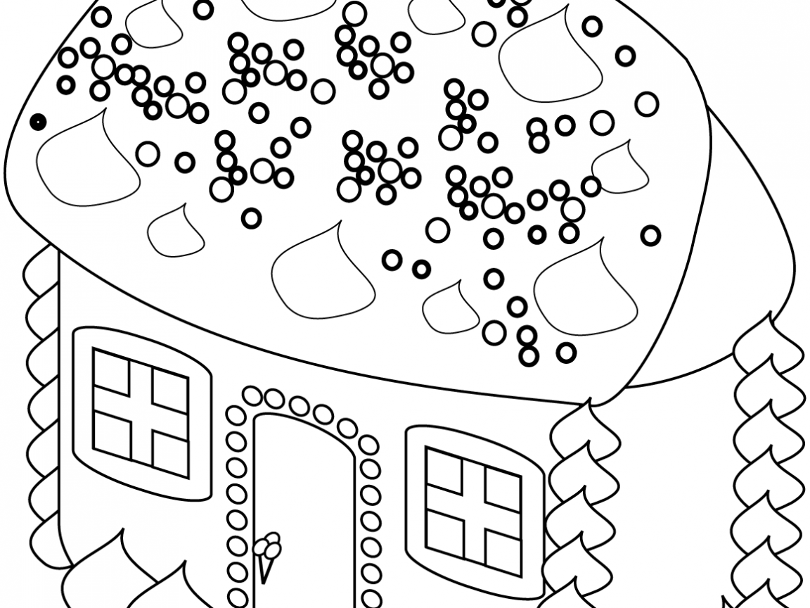 1152x864 Easy House Coloring Pages Drawing Printabledult Free