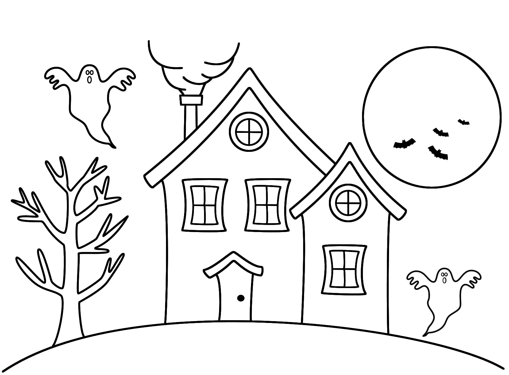 1659x1225 Easy To Draw Haunted Houses Easy To Draw Halloween Haunted House