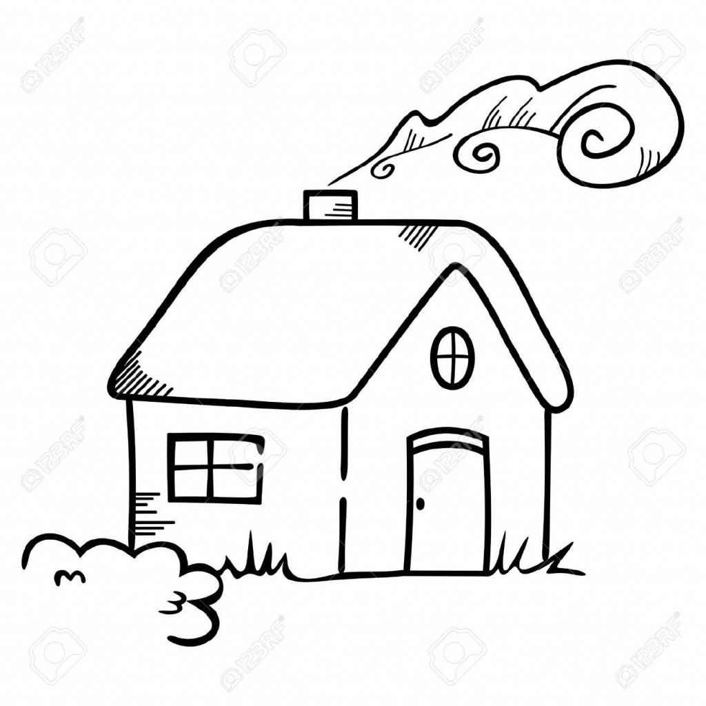 1024x1024 Cartoon Drawing Of A House How To Draw A Haunted House For Kids