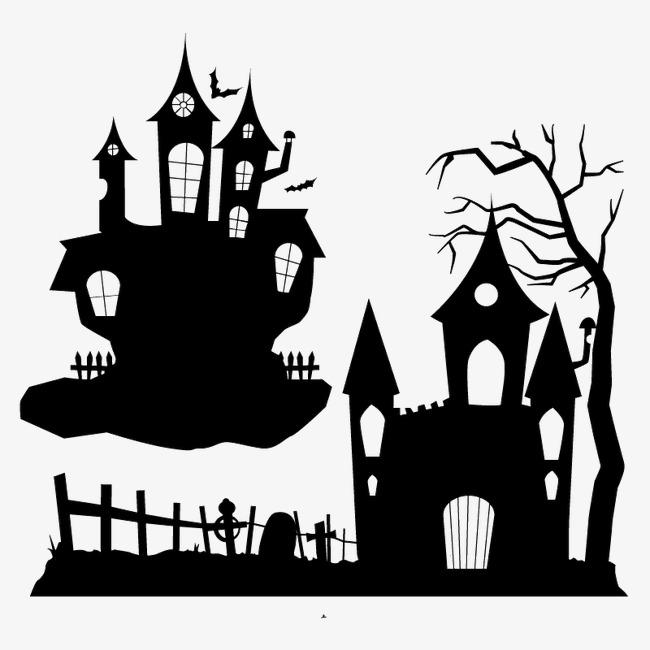 650x650 Halloween Haunted House Silhouette, Halloween, Haunted House