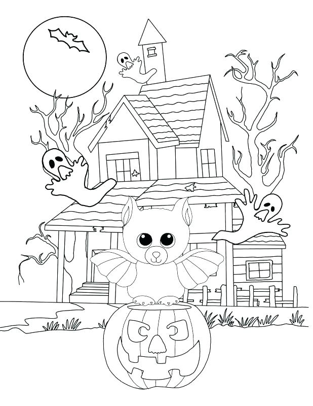 618x800 Haunted Mansion Coloring Pages Beanie Boo Coloring Pages Coloring