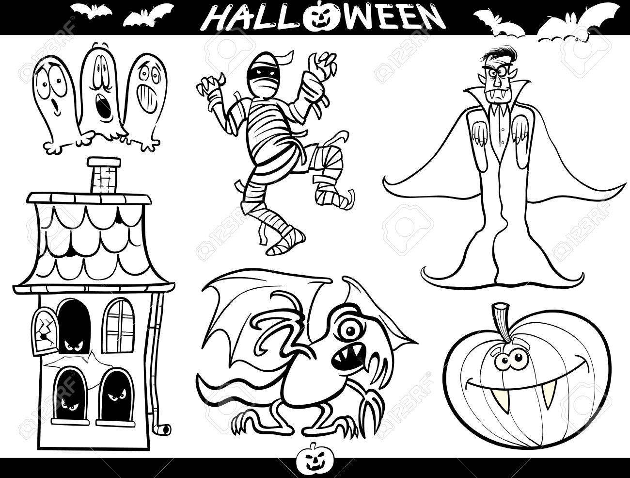 1300x985 Cartoon Illustration Of Halloween Themes, Vampire Or Count Dracula
