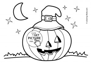 300x210 The Images Collection Of Jackolantern Pumpkin Drawing Easy