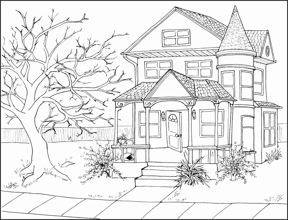 983x753 15 Drawings Of Haunted Houses Besttemplates