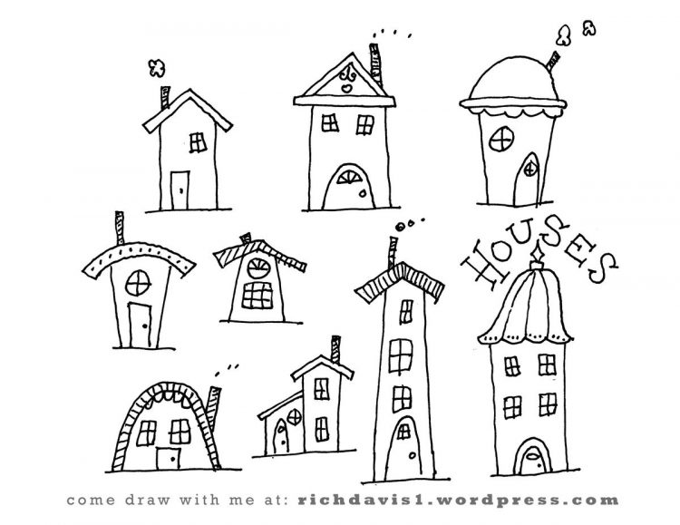 750x579 Drawing Easy House Drawing Sketch As Well As Drawing House Plans