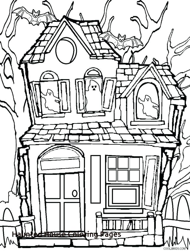 644x850 Drawn Haunted House Spooky House 3344974