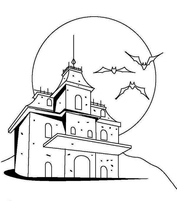 600x680 Drawn Haunted House Haunted Castle