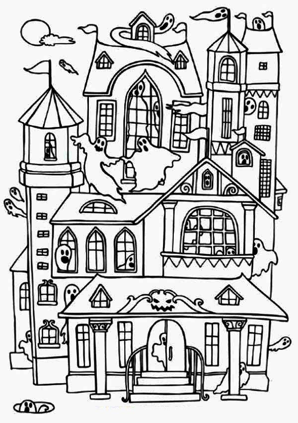 600x850 Haunted House Coloring Image Tags Haunted House Coloring How