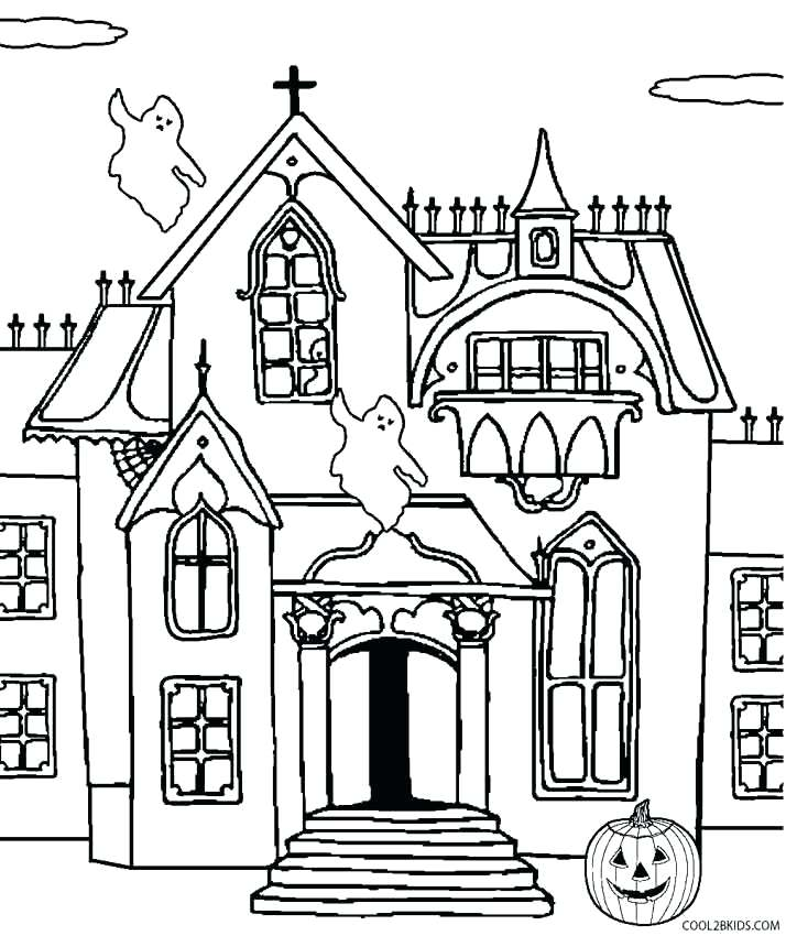 714x850 Coloring Pages Of Haunted Houses Haunted House Coloring Pages