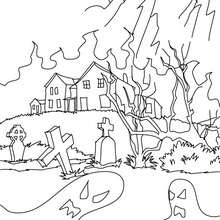 220x220 Haunted Houses Coloring Pages