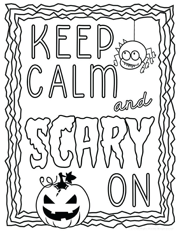 612x792 Halloween Themed Coloring Pages Children Of All Ages Will Have Fun