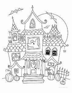 236x305 Haunted House Drawing Ideas