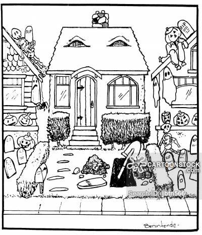 400x465 Haunted Houses Cartoons And Comics