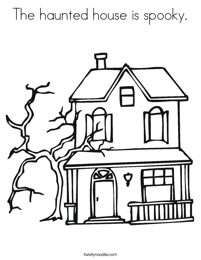 685x886 The Haunted House Is Spooky Coloring Page