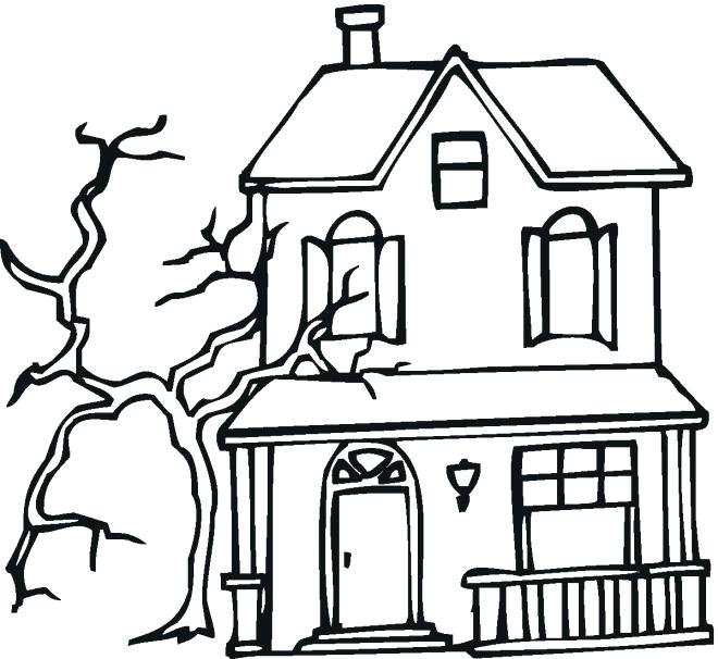 haunted house drawing for halloween at getdrawings com free for rh getdrawings com