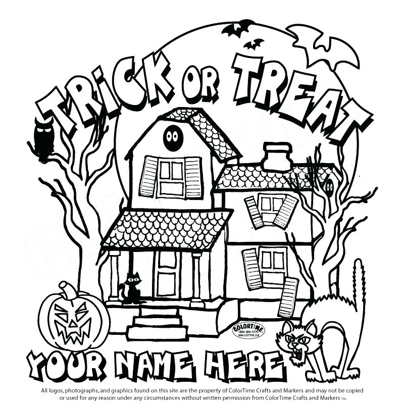 800x800 Haunted House Coloring Pictures Monster House Coloring Pages