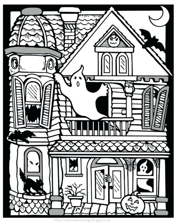 618x773 Haunted Mansion Coloring Pages Printable Coloring Page For Kids