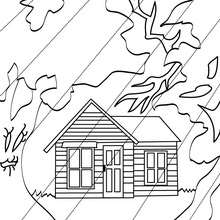 220x220 Scary Haunted Mansion Coloring Pages