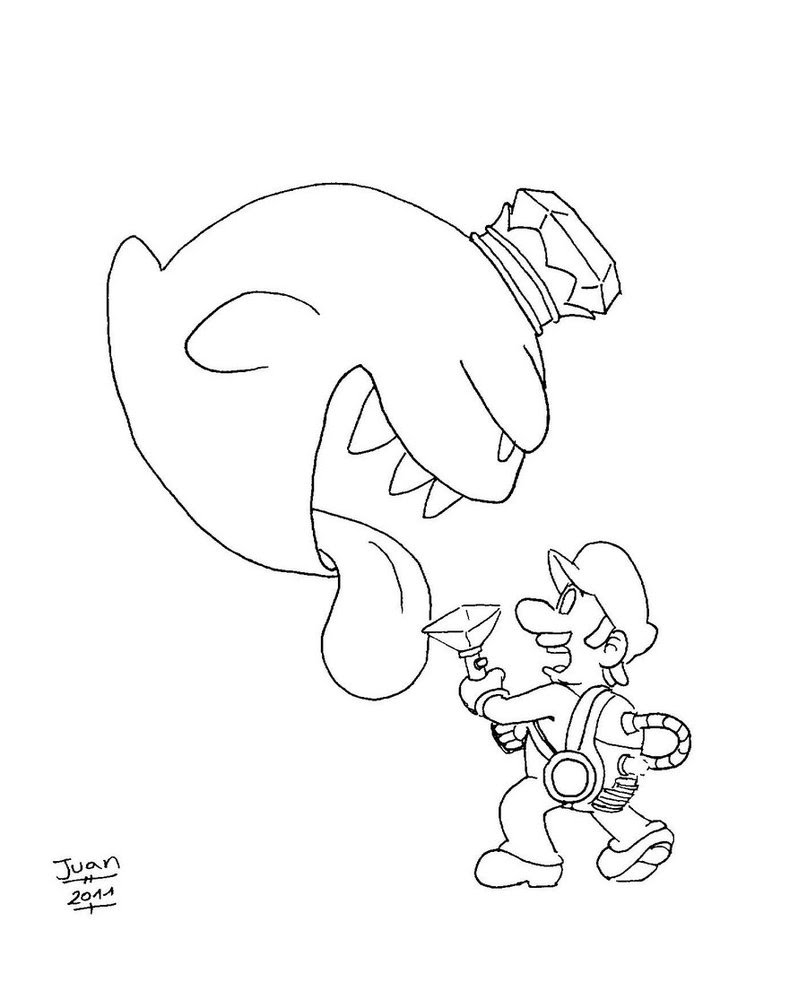 807x991 Speed Drawluigi's Mansion