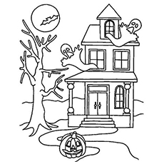 230x230 Top 25 Free Printable Haunted House Coloring Pages Online