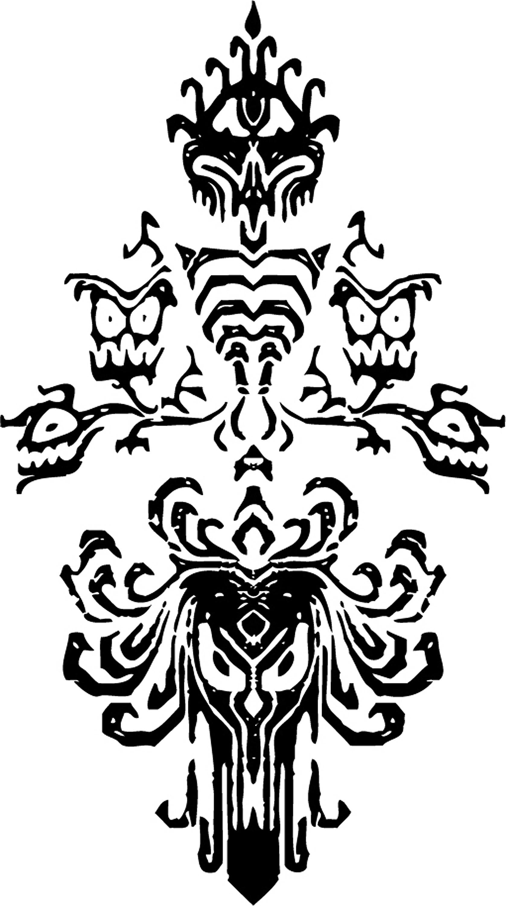1677x3003 Disney Haunted Mansion Wallpaper Stencil