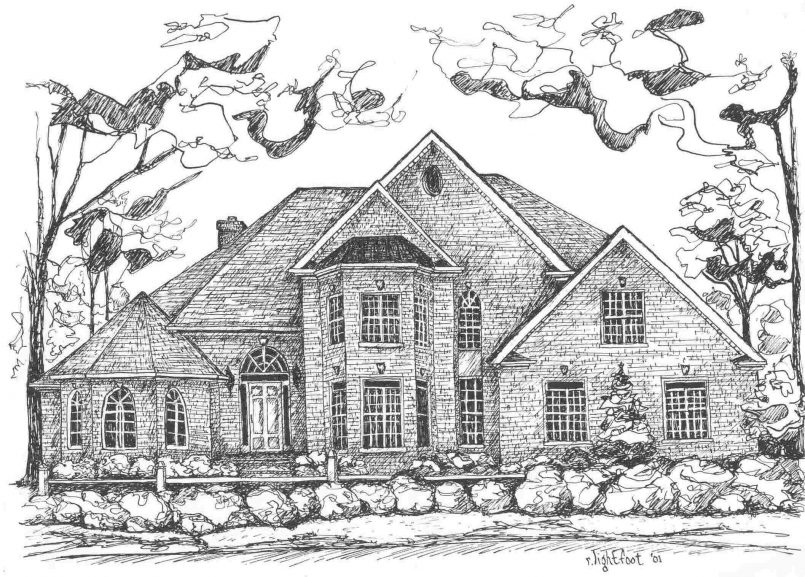 805x577 Drawing Gingerbread House Easy Drawing As Well As Dream House