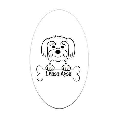 460x460 Lhasa Apso Cartoon Stickers Cafepress