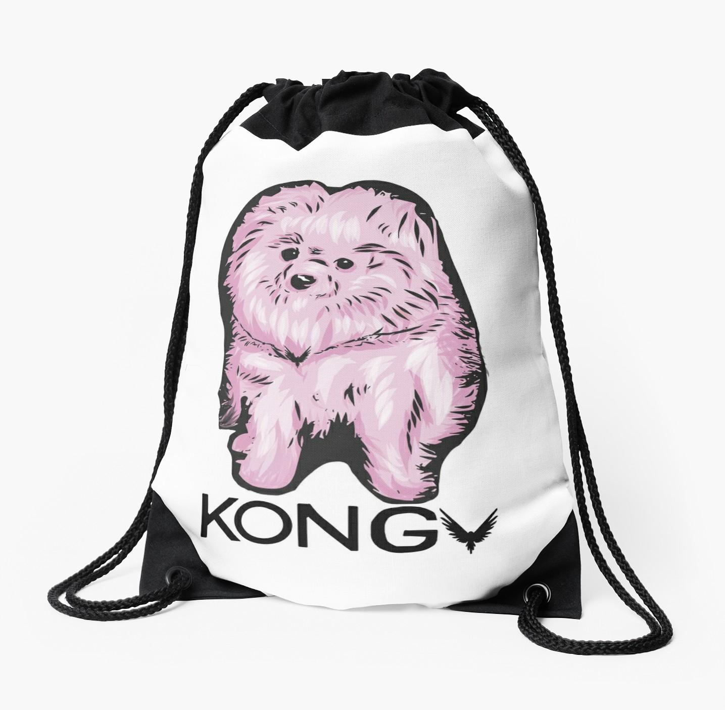 1435x1404 Kong Da Savage Drawstring Bags By Heyashtag Redbubble