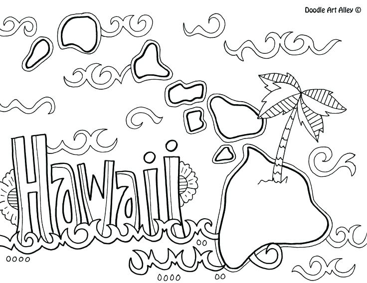 736x568 Hawaii State Flag Coloring Page Coloring Page Coloring Page