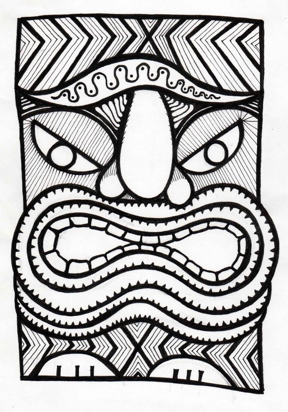 1119x1600 Stitchlily How To Draw A Tiki Head!