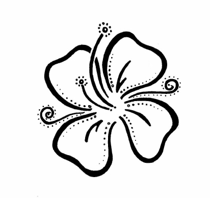 412x388 Peng5497 Art Of Hawaiian Tattoos With Image Hawaiian Flower