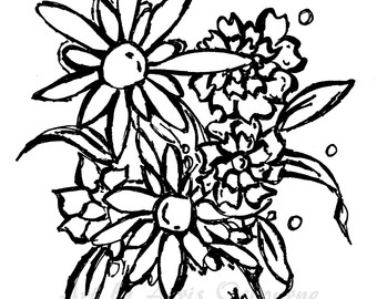 340x270 Exotic Hawaii Flowers Printable Page Adult Coloring