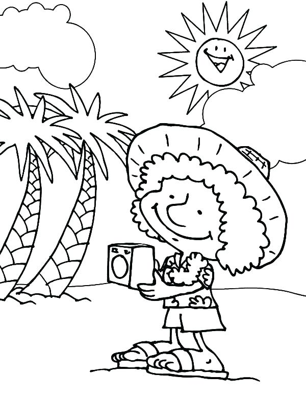 600x777 Awesome Hawaii Coloring Pages For Coloring Pages State Flower