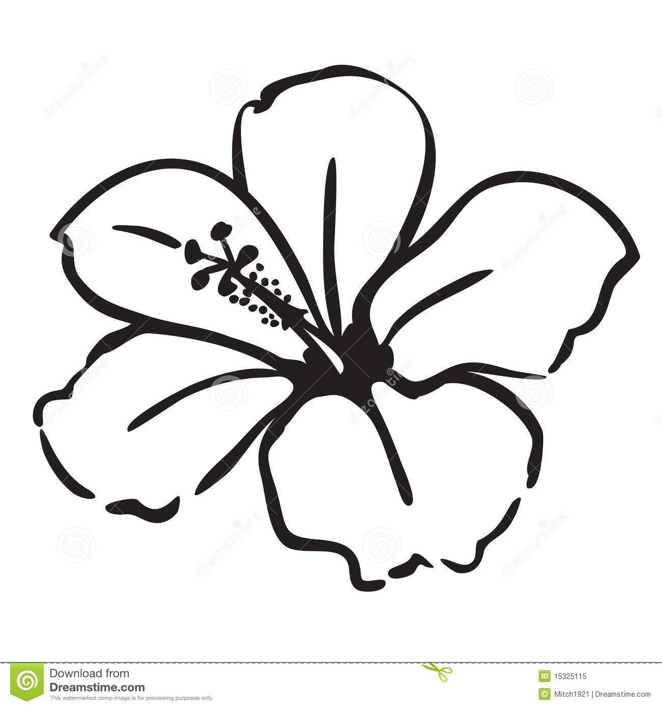 1300x1390 Hawaiian Flower Drawing Drawn Flower Hawaiian