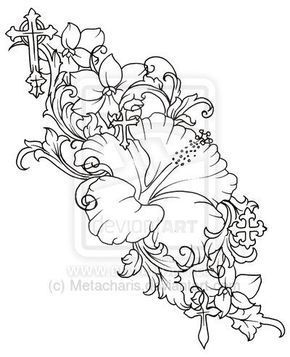 290x357 The Best Hawaiian Flower Drawing Ideas On Hibiscus