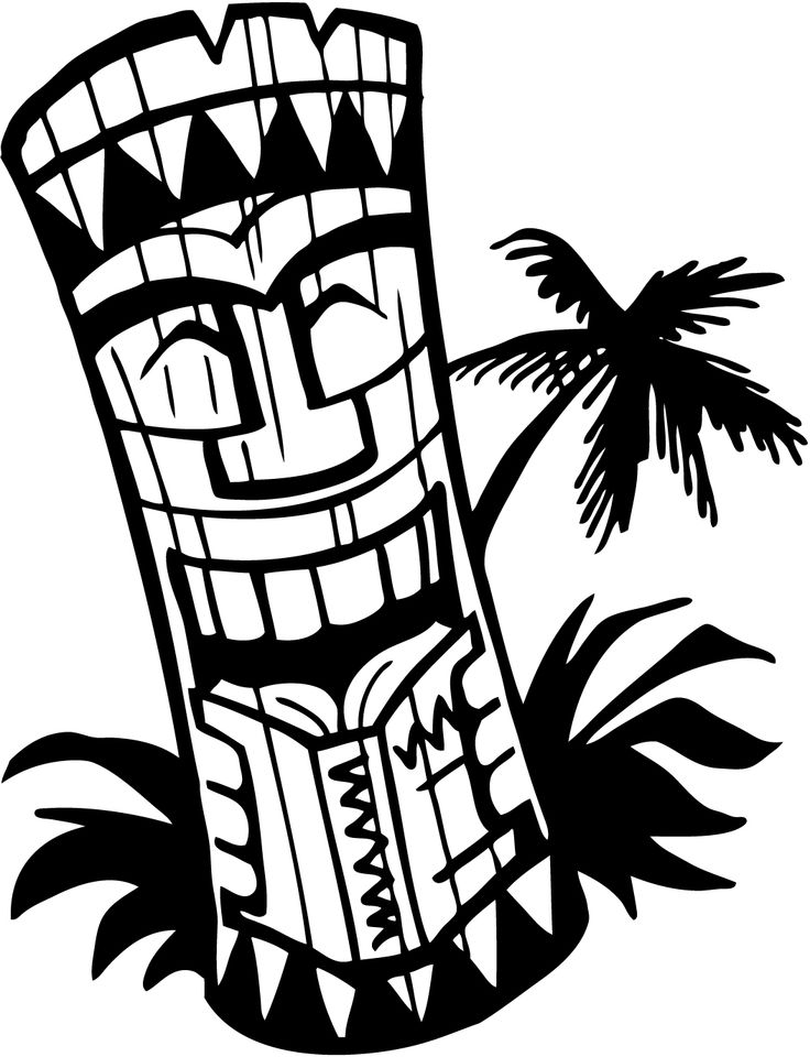 736x960 Hawaii Clipart Black And White