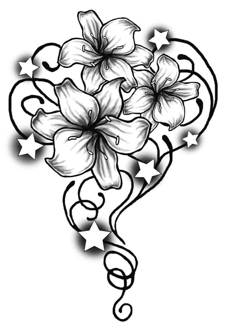 749x1066 Tribal Flower Drawing How To Draw An Hawaiian Flower
