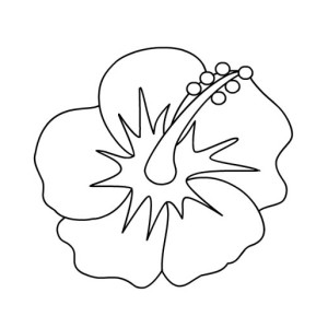 300x300 Coloring Pages Of Hawaiian Flowers