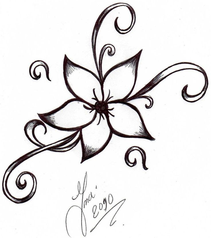 736x830 Collection Of Best Tribal Flower Tattoo Designs