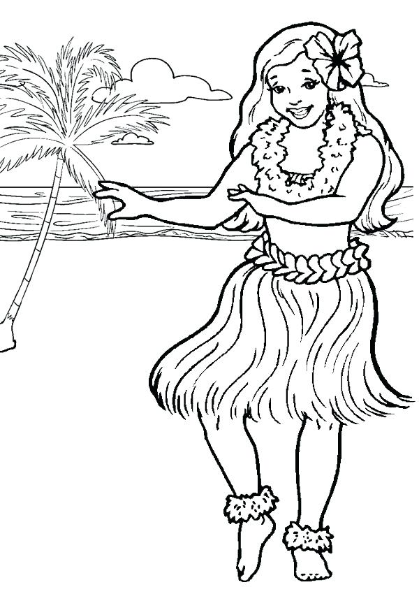 600x850 Luau Coloring Pages Hibiscus Flower Coloring Pages For Kids