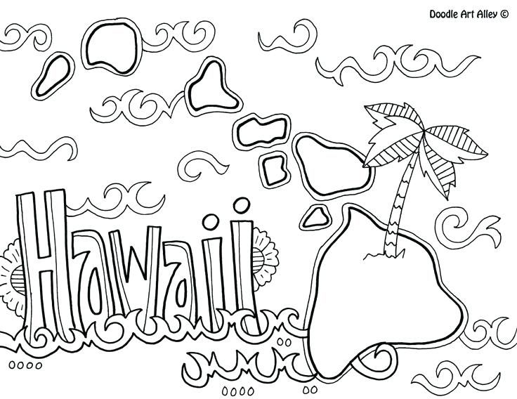736x568 Hawaii Coloring Book Also Coloring Pages With Coloring Pages 85